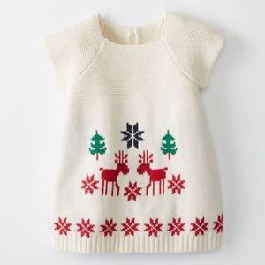 HA Dear Deer Sweater Dress In Cotton & Merino